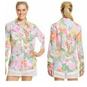 Lilly Pulitzer Target Nosey Posey Shirt Size XL